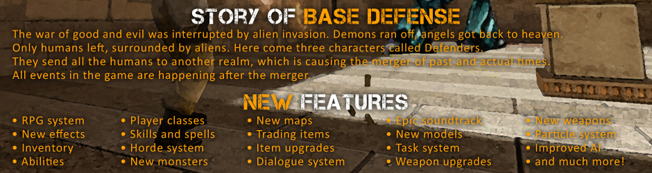 Base Defense is a single/cooperative modification based on horde-style and RPG systems.